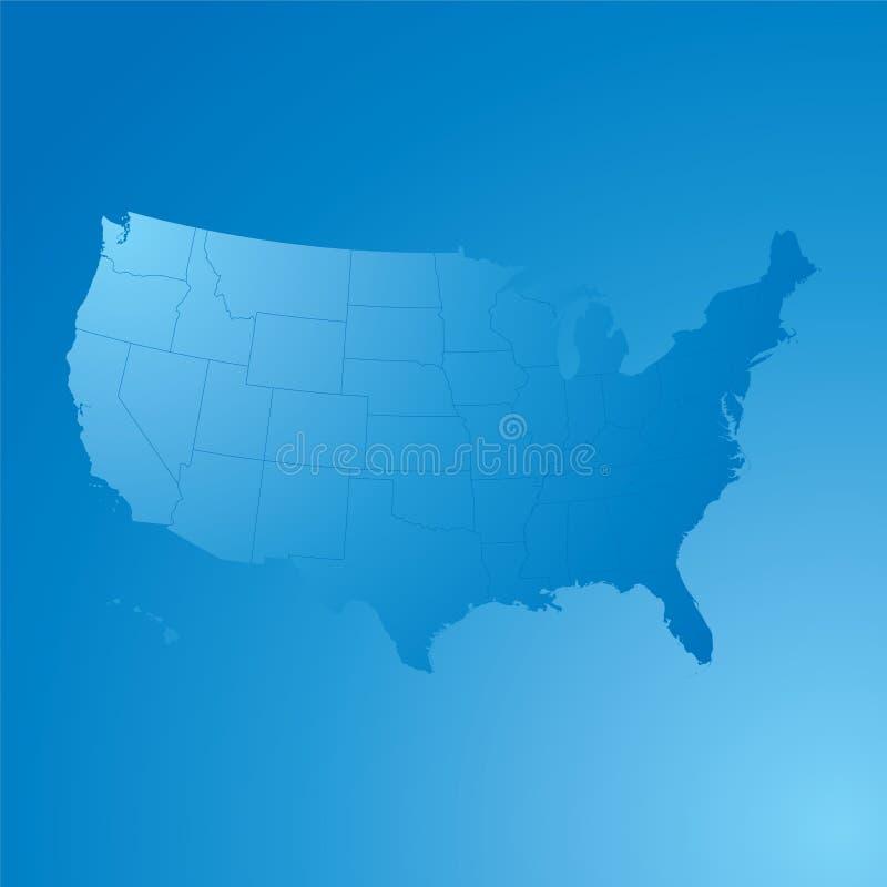 Nós mapa ilustração royalty free