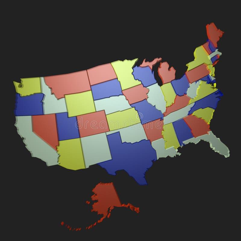 Nós mapa ilustração do vetor