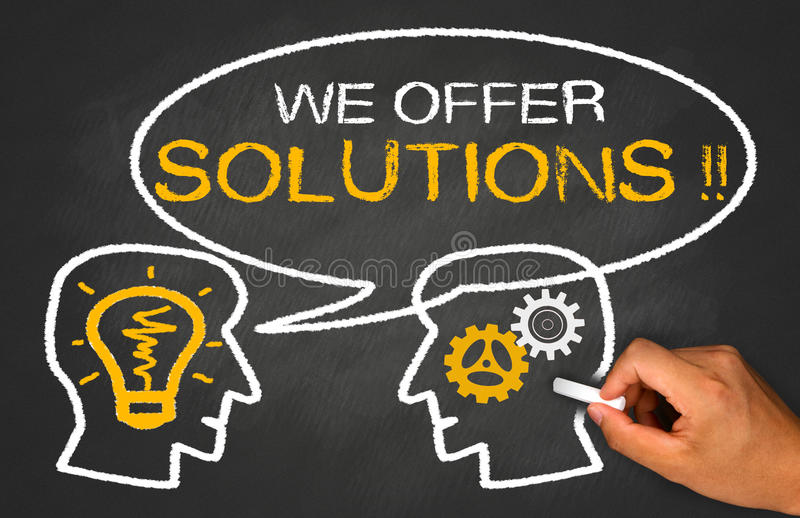 Nós oferecemos soluções imagem de stock royalty free