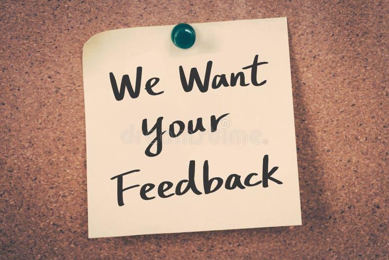 Nós queremos seu feedback fotos de stock royalty free