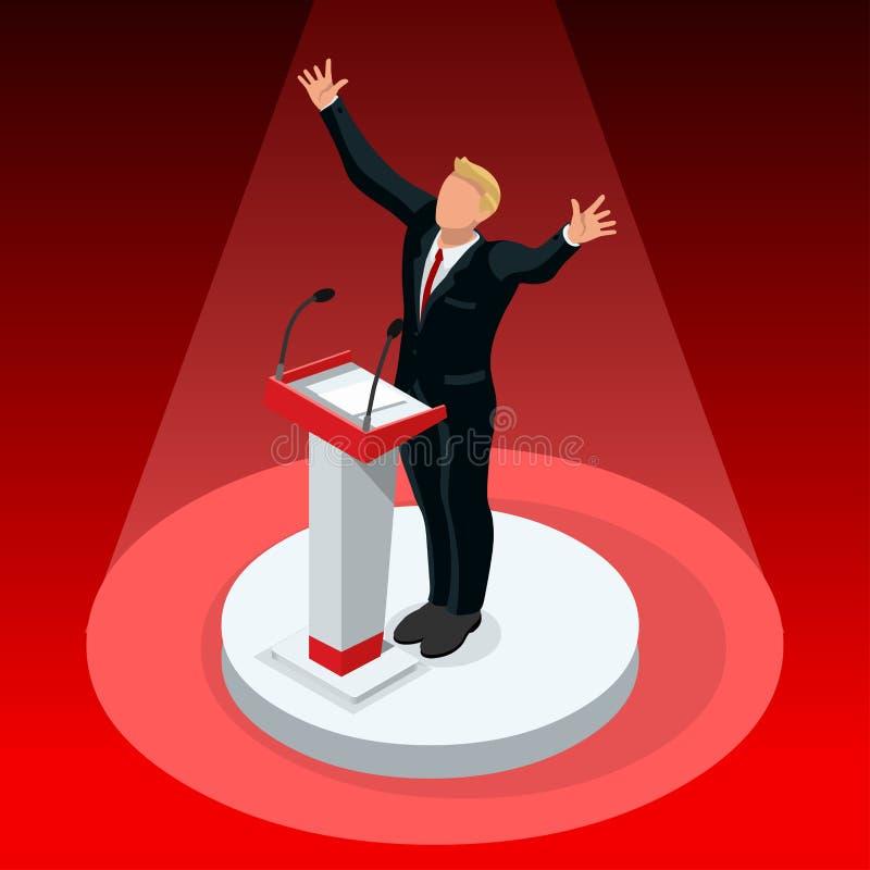 Nós republicano 2016 ajustado do ícone das associações do vencedor da eleição ilustração royalty free