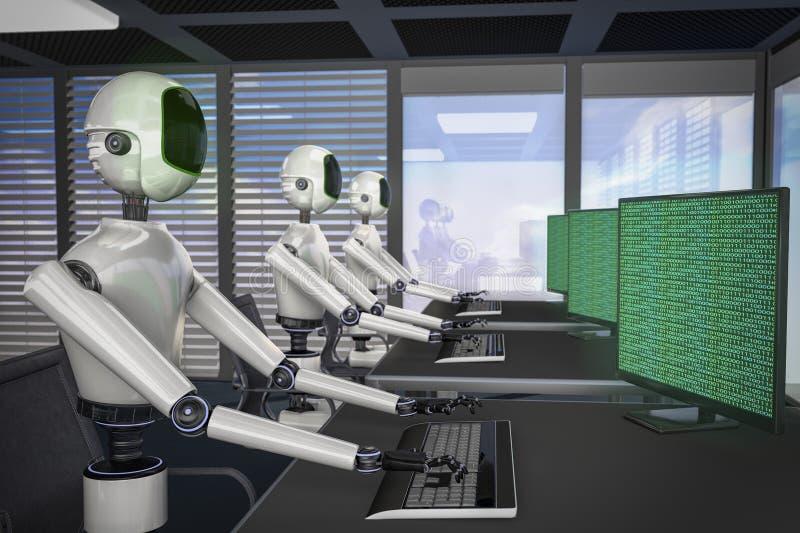 Nós somos os robôs ilustração stock