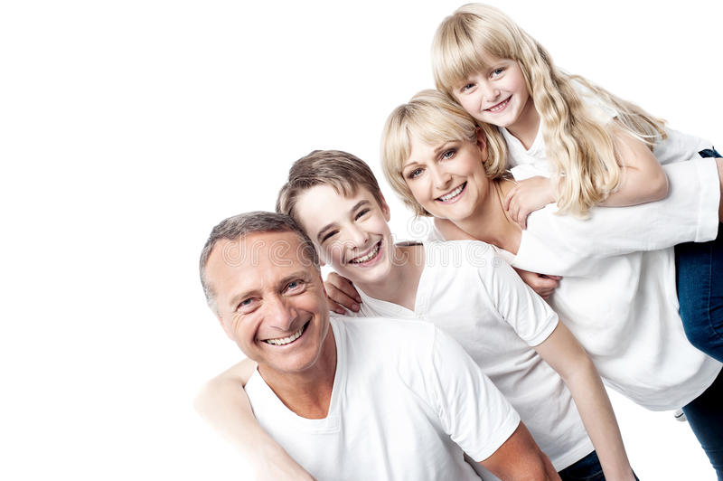 Nós somos uma família feliz! foto de stock royalty free