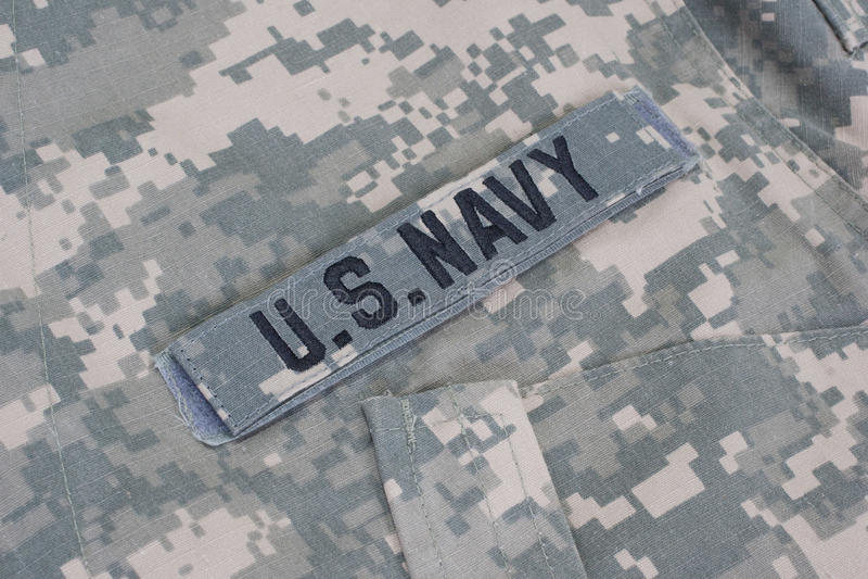 Nós uniforme da marinha imagem de stock
