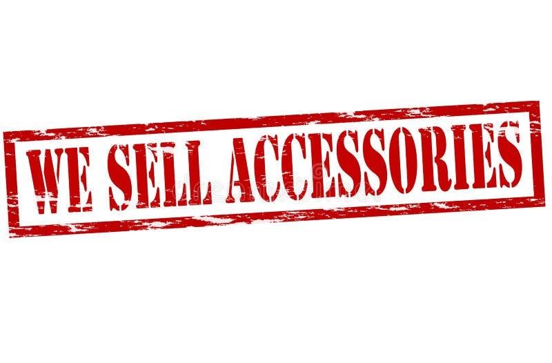 Nós vendemos acessórios ilustração royalty free