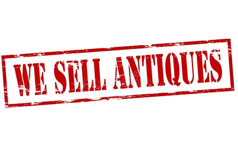 Nós vendemos antiguidades ilustração stock