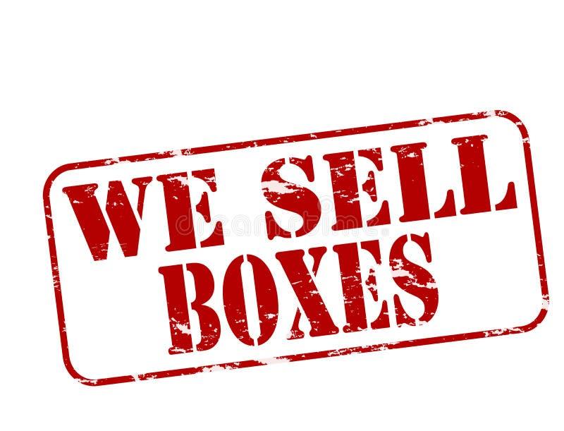 Nós vendemos caixas ilustração royalty free