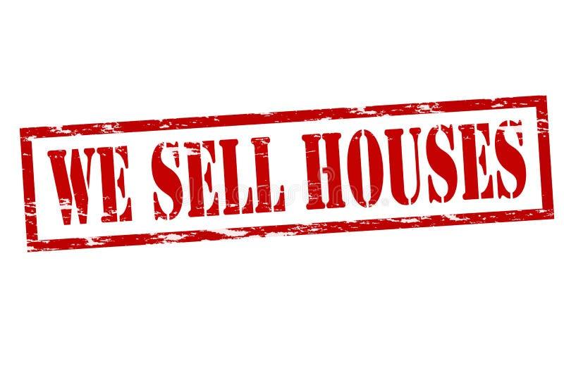 Nós vendemos casas ilustração do vetor
