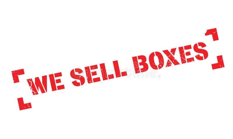 Nós vendemos o carimbo de borracha das caixas ilustração do vetor
