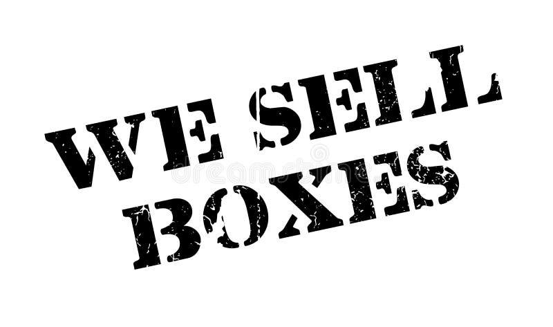 Nós vendemos o carimbo de borracha das caixas ilustração stock