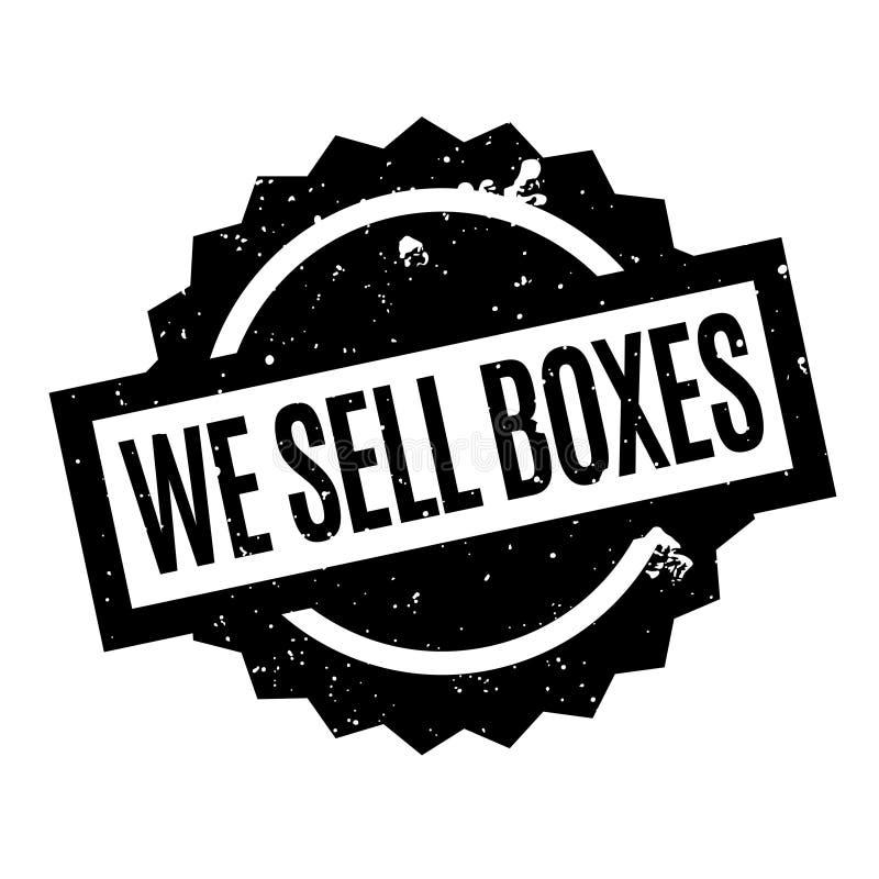 Nós vendemos o carimbo de borracha das caixas ilustração royalty free