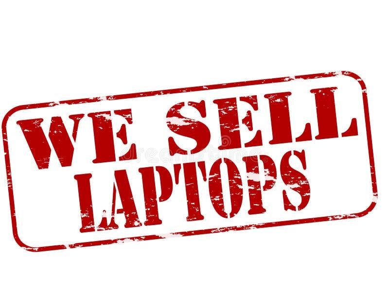 Nós vendemos portáteis ilustração stock