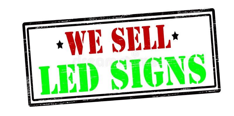 Nós vendemos sinais conduzidos ilustração do vetor