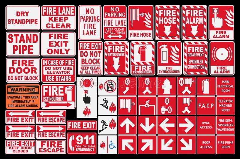 Nöd- brandallsånger royaltyfri illustrationer