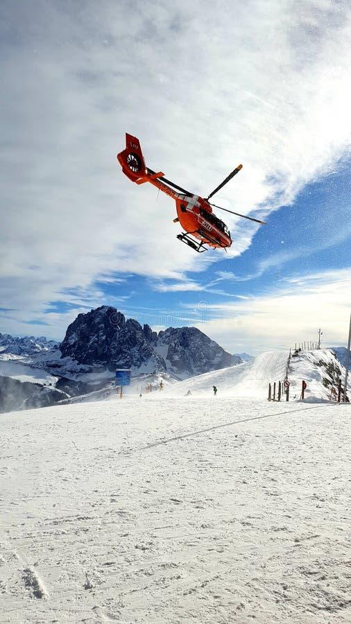 Nöd- helikopter fotografering för bildbyråer
