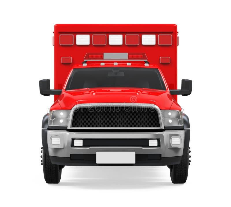 Nöd- isolerad brandlastbil för ambulans royaltyfri illustrationer