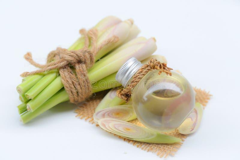 Nödvändig olja för Lemongrass med Aromatherapy arkivbilder