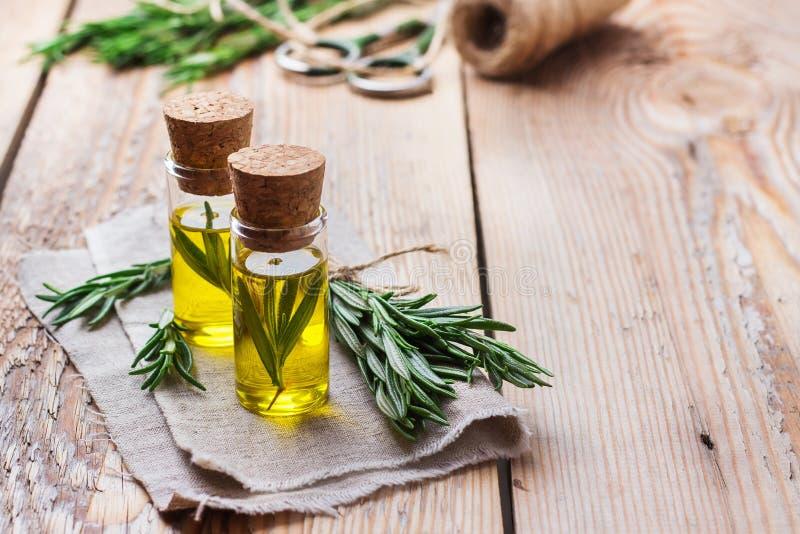 Nödvändig olja för naturliga rosmarin för skönhet och brunnsort royaltyfri bild