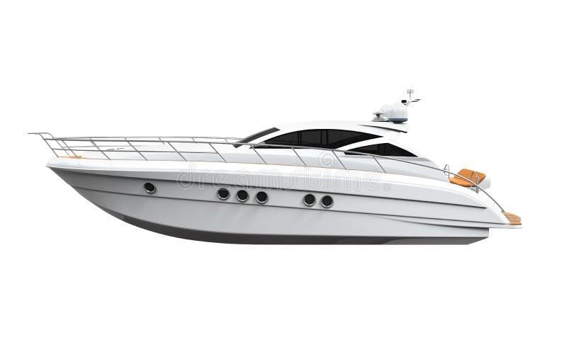 nöje för illustrationen 3d framför den vita yachten vektor illustrationer
