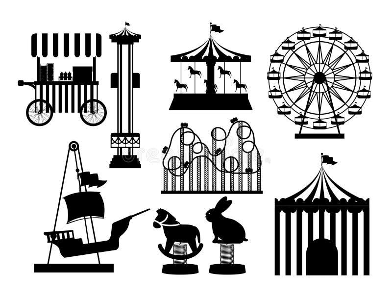Nöjesfältdesign royaltyfri illustrationer