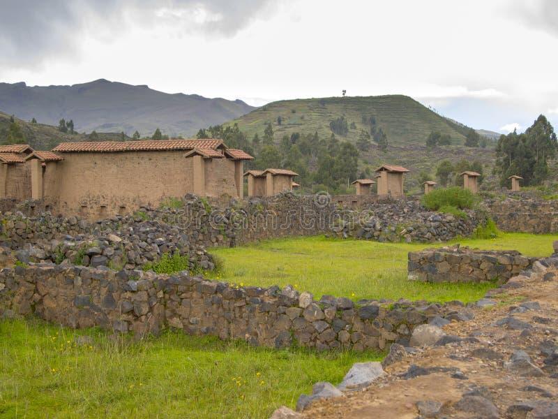 Nöjesplats och bad i Raqchi arkivfoton