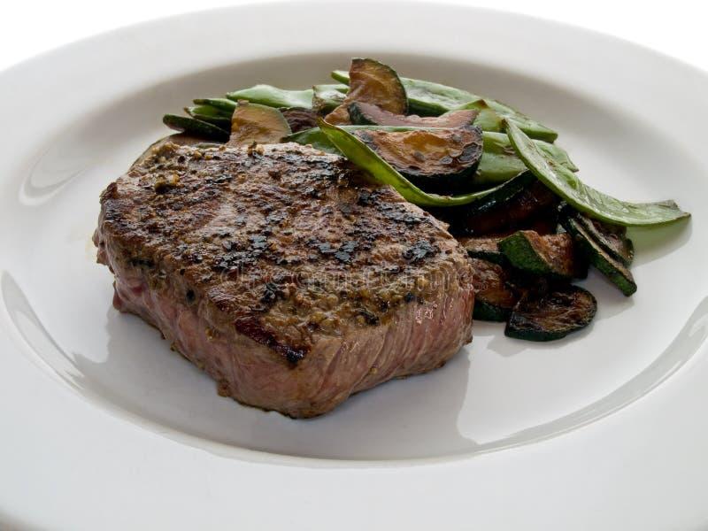 nötkött stekt steak royaltyfri fotografi