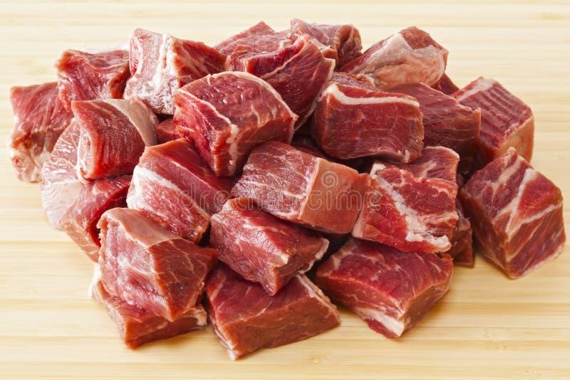 Nötkött Stew Meat Raw arkivbilder