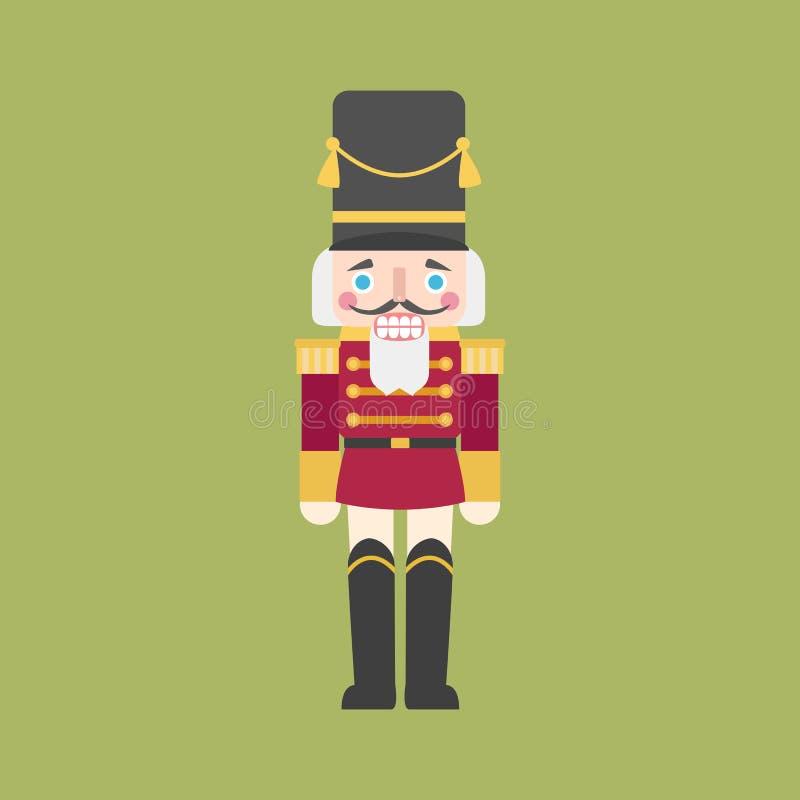 nötknäppare royaltyfri illustrationer