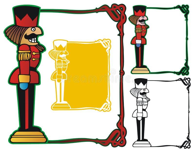 Nötknäpparegräns stock illustrationer