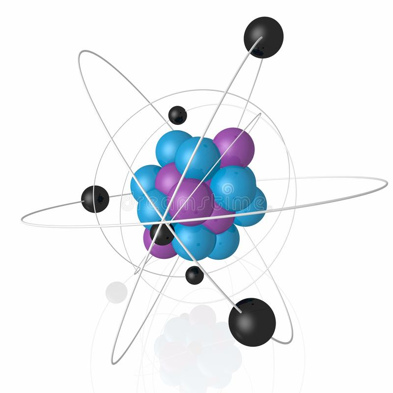 Núcleo atômico imagem de stock