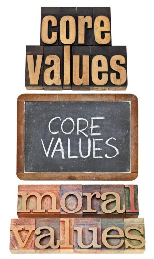 Núcleo e valores morais fotografia de stock royalty free