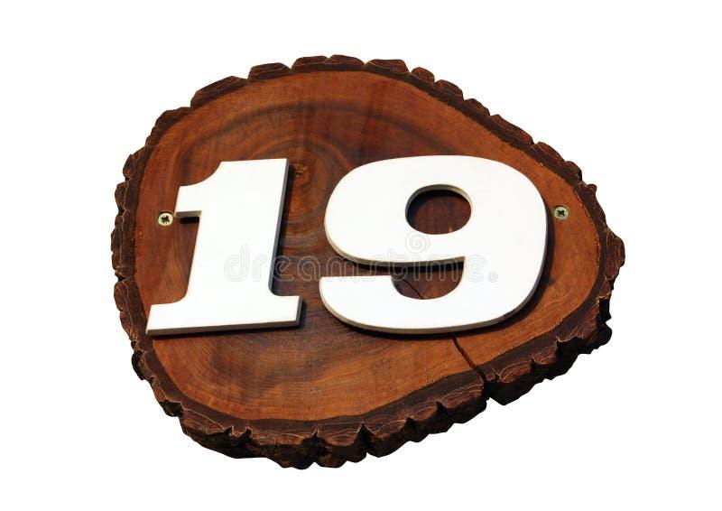 Número 19 imagen de archivo