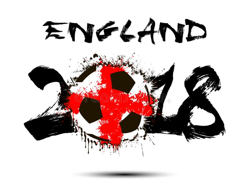 Número abstrato 2018 e mancha da bola de futebol ilustração stock