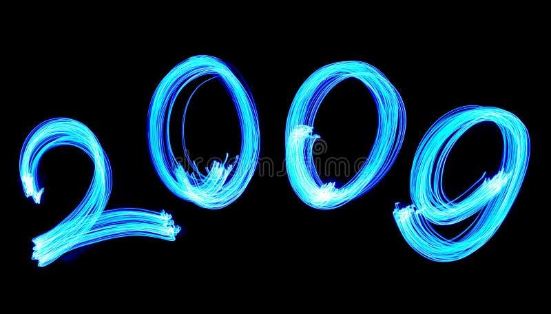 Número azul eléctrico 2009 fotografía de archivo libre de regalías