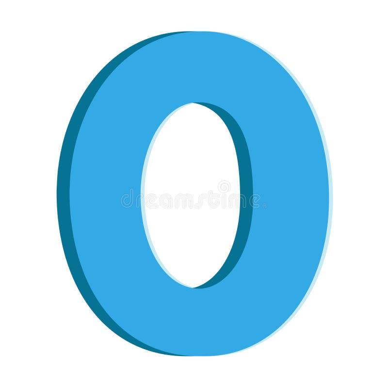 Número azul zero ilustração royalty free