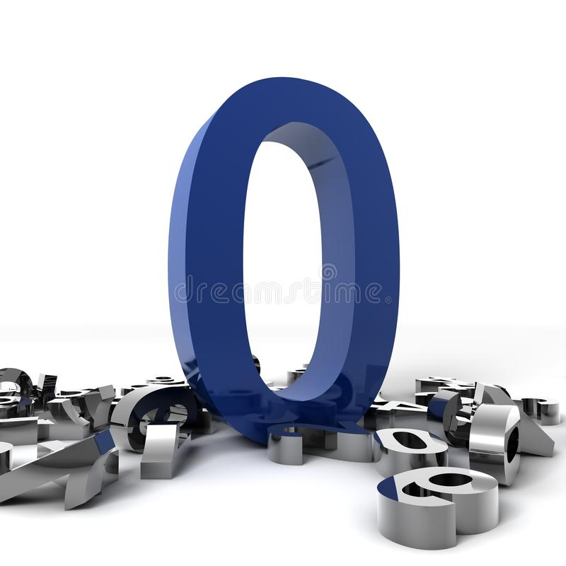 Número cero stock de ilustración