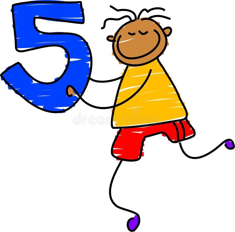 Número cinco ilustração stock