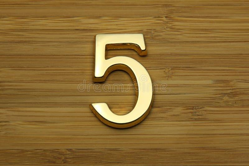 Número cinco, número de placa do endereço da casa imagens de stock