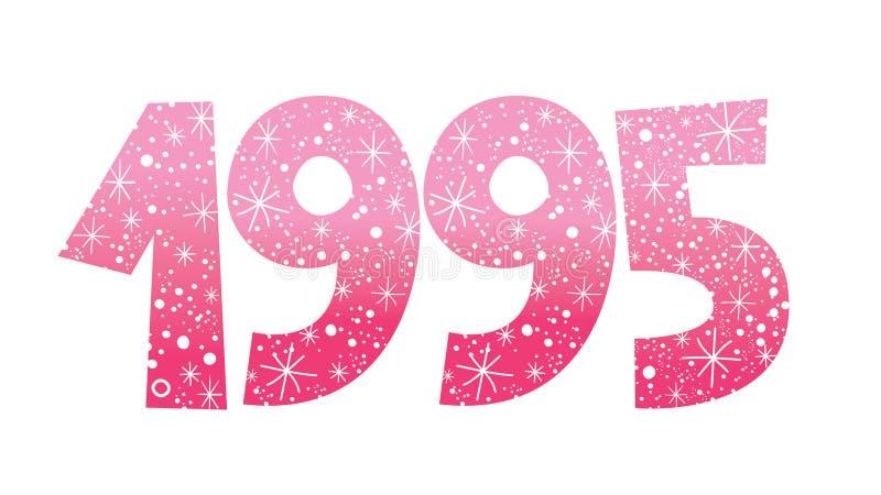 Número comemorativo decorativo do ano 1995 ilustração royalty free
