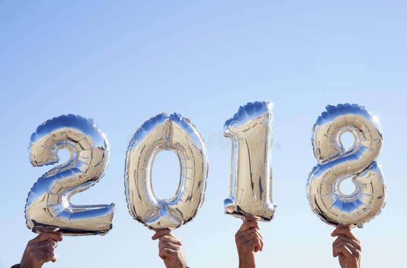 Número 2018, como el Año Nuevo imagen de archivo libre de regalías