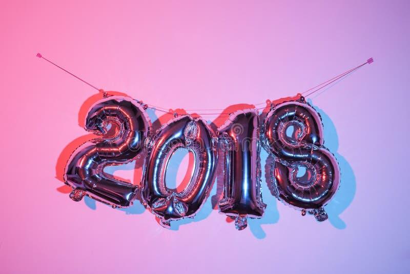 Número 2018, como el Año Nuevo imagenes de archivo