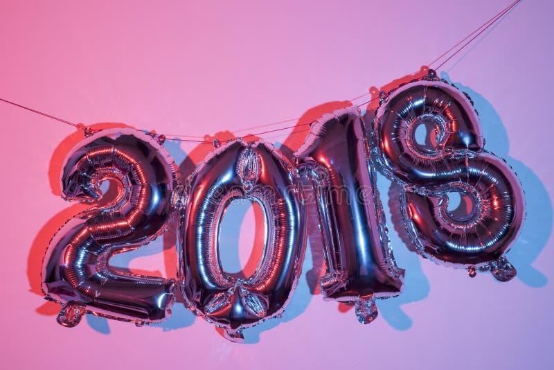 Número 2018, como el Año Nuevo imágenes de archivo libres de regalías