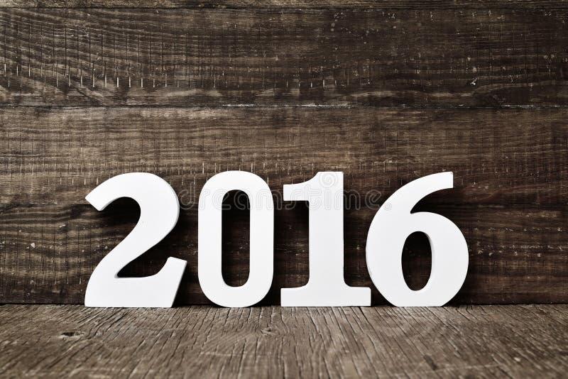 Número 2016, como o ano novo fotografia de stock