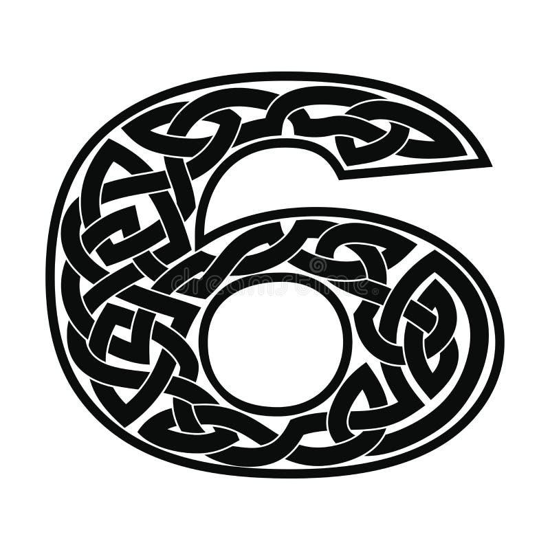 Número con el ornamento céltico libre illustration