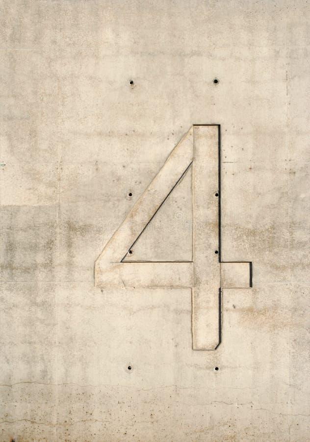 Número Concreto Foto de archivo