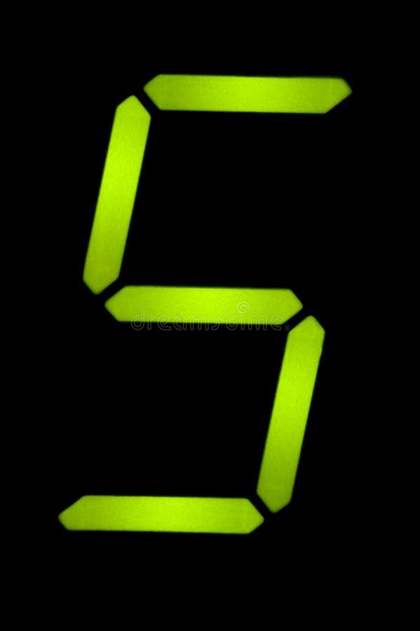 Número cristalino cinco fotografía de archivo