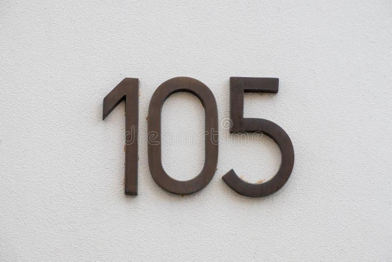 Número da casa 105 foto de stock royalty free
