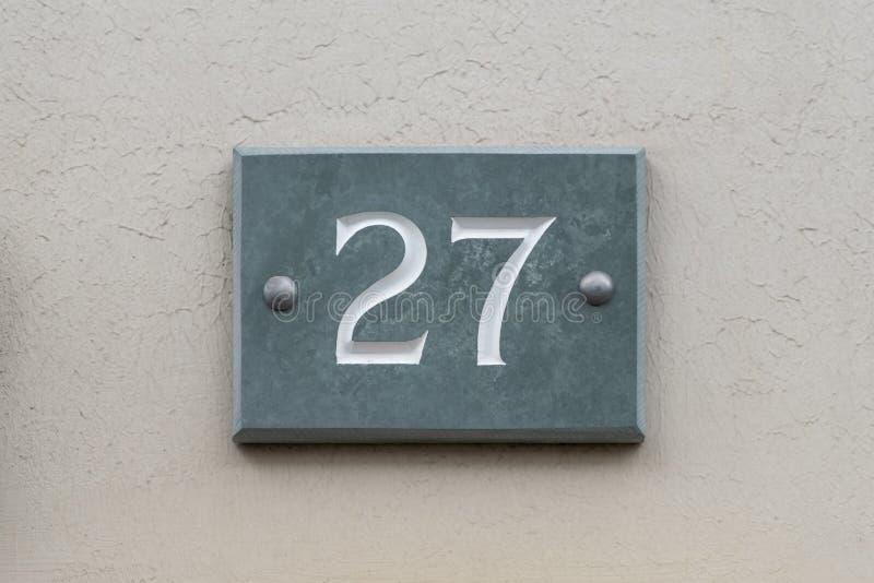 Número da casa 27 fotos de stock