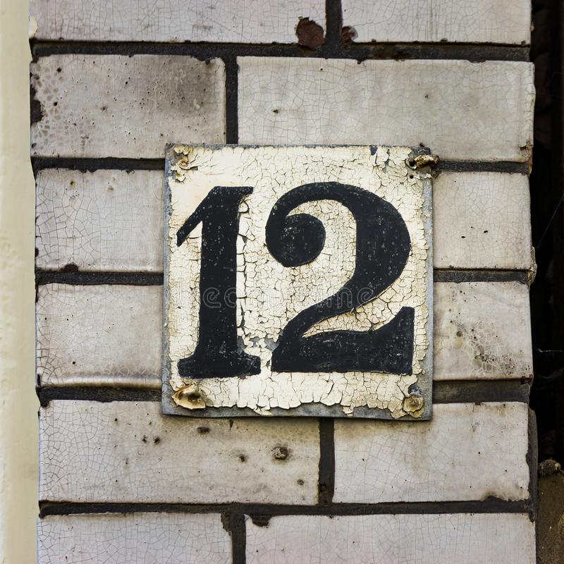 Número da casa doze 12 imagem de stock
