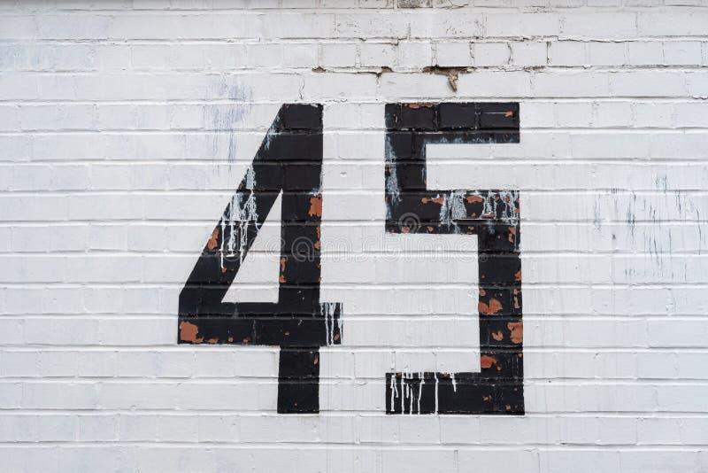 Número da casa 45 fotos de stock